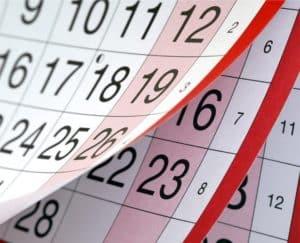 Levante Ideias - Calendário