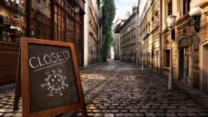 Loja fechada - Covid - E Eu Com Isso