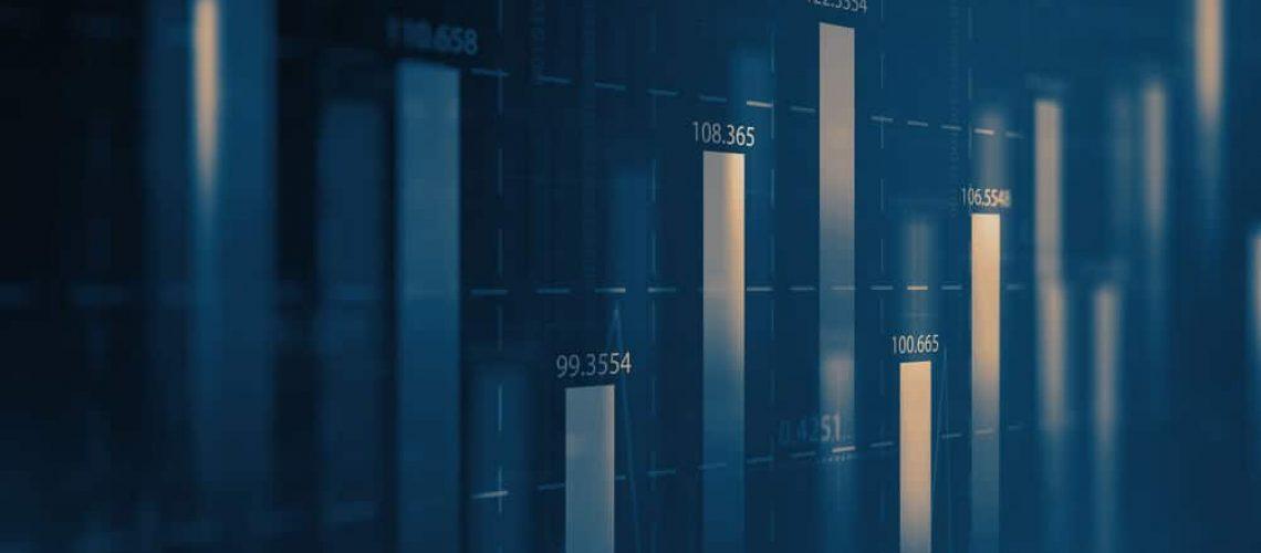 Valores em Gráfico representando Índice