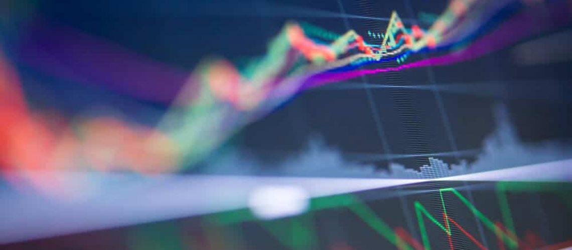 Gráfico de Bolsa oscilando