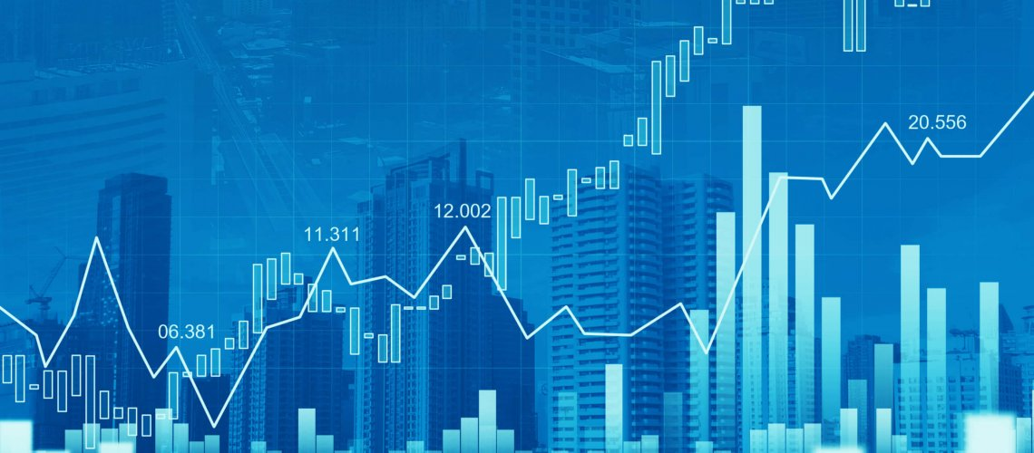 Stock,Market,Or,Forex,Trading,Graph,In,Graphic,Double,Exposure