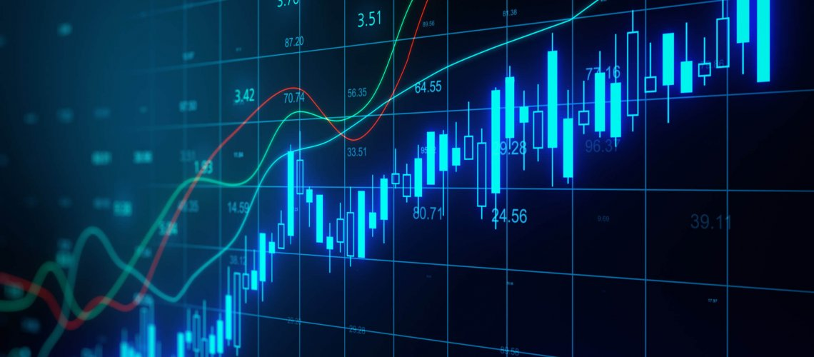 Glowing,Stock,Chart,With,Candlestick,And,Big,Data,Index,Grid.