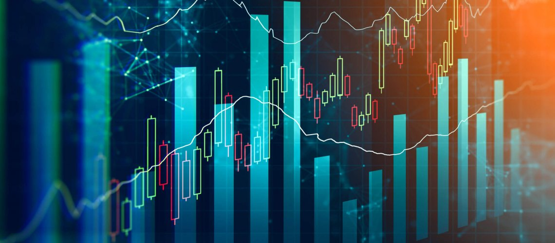 Illustration,Of,Global,Trading,Market,Changes.,Abstract,Business,Chart,With